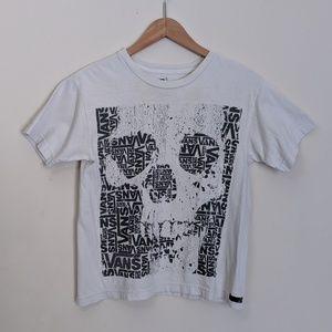 BOGO🎉 Vans white & grey skull tee